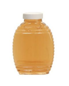 1 lb Plastic Honey Bee Bottles with 43mm Lids - 24 Pack