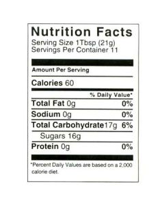 8 oz Nutritional Label - 100 Pack