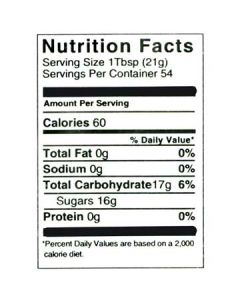 2 1/2 lb Nutritional Label - 100 Pack