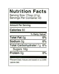 2 lb Nutritional Label - 100 Pack