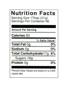 4 lb Nutritional Label - 100 Pack