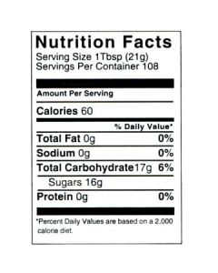 5 lb Nutritional Label - 100 Pack