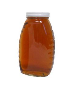 2 lb Classic Glass Honey Jars with Lids - 12 Pack