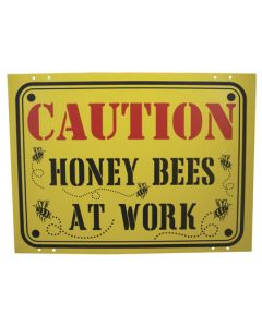 Caution Honey Bees at Work Sign - Each