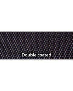 "Medium 5 1/2"" X 16 3/4"" Double Coated Black Plasticell - Each"