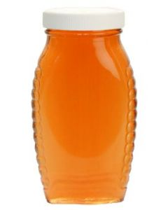 1 lb Plastic Honey Oval Bottles with Lids - 12 Pack