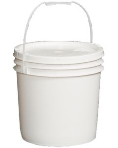 Feeder 24 lb White Plastic Pail with Lid - Each