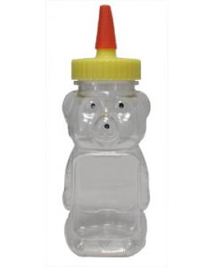 12 oz Clear Panel Squeeze Bear without Lids - 250 Pack