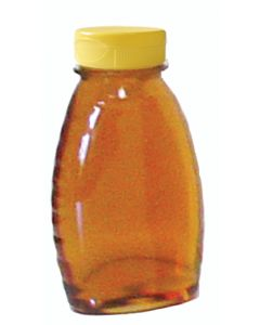 8 oz Classic Plastic Honey Bottles with Snap Cap Lids - 24 Pack