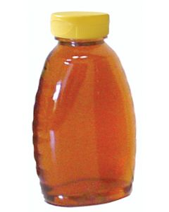 1 lb Classic Plastic Honey Bottles with Snap Cap Lids - 24 Pack