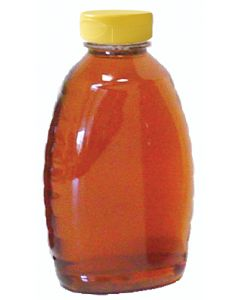 1 1/2 lb Classic Plastic Honey Bottles with Snap Cap Lids - 24 Pack