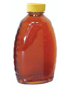2 lb Classic Plastic Honey Bottles with Snap Cap Lids - 12 Pack