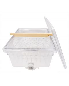 Clear Plastic Uncapping Tub, Drainer, & Lid