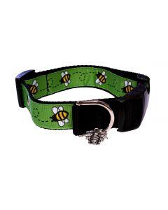 """Dog Collar Green/Black - Medium 12"""" - 18"""""""