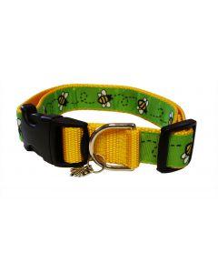 """Dog Collar Green/Yellow - Medium 12"""" - 18"""""""