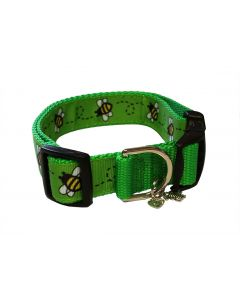 """Dog Collar Green/Green - Medium 12"""" - 18"""""""
