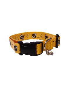 """Dog Collar Yellow/Yellow - Medium 12"""" - 18"""""""