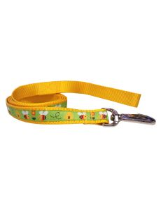 Dog Leash Orange Bees and Hives/Yellow 70""
