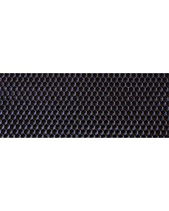 "Medium 5 1/2"" X 16 3/4"" Double Coated Black Plasticell - Each"