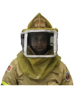 Fire Department Folding Veil with Large Shield Ventilated
