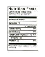 8 oz Nutritional Label - 100 Pack
