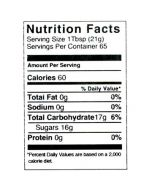 3 lb Nutritional Label - 100 Pack