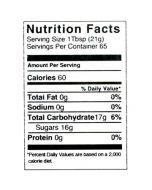 3 lb Nutritional Label - 100 Pack