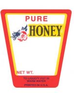 Small Pressure Sensitive Honey Labels - Red - 250 Pack