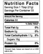 1 1/2 lb Nutritional Label - 100 Pack